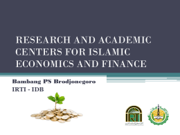 RESEARCH AND ACADEMIC CENTERS FOR ISLAMIC