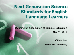 Promoting Science Learning and Language Development of ELLs