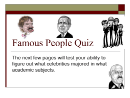 Famous People Quiz - Salisbury University
