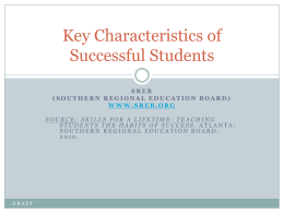 Key Characteristics of Successful Students