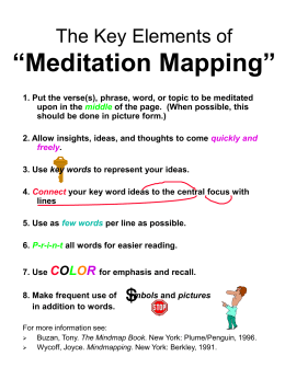 "The Key Elements of ""Meditation Mapping"""
