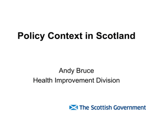 Kay Barton Health Improvement Strategy Scottish Government