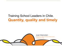Training School Leaders in Chile