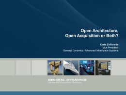 Open Architecture, Open Acquisition or Both?