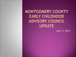 Montgomery Co. LECAC Update - Maryland State Department of
