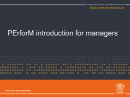 PErforM for management powerpoint presentation