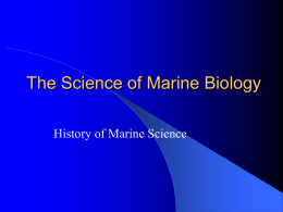 Chap01 Science of Marine Bio
