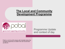 LCDP Goal 2 Support Event_Pobal Opening Presentation