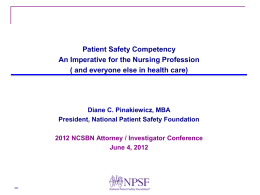 NPSF Program Portfolio - National Council of State Boards of Nursing