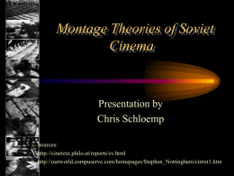 Montage Theories of Soviet Cinema