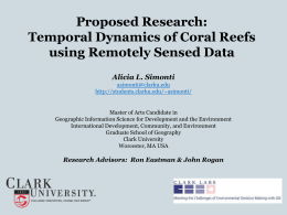 Research Proposal: Temporal Dynamics of Coral