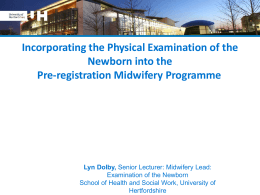 Newborn and Infant Physical Examinations