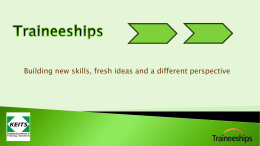 traineeships - Hertfordshire Grid for Learning