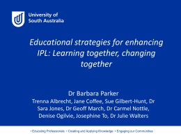 Educational strategies for enhancing IPL: Learning together