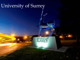 The Context (1) - University of Surrey