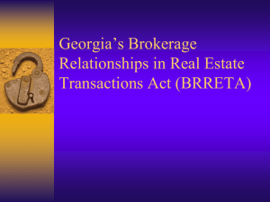 Georgia`s Brokerage Relationships in Real Estate Transactions Act