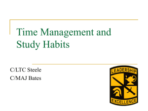 Time Management and Study Habits