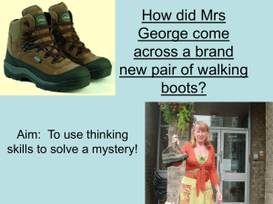 Lesson 3 Mrs George and her boots