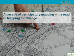 A decade of participatory mapping – the road to Mapping for Change
