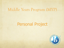 Middle Years Program (MYP) Information Evening