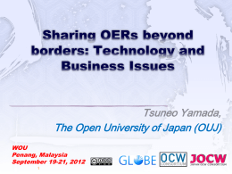 sharing oers beyond borders: technology and business