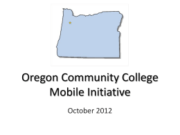 Oregon Community College Mobile Initiative ppt