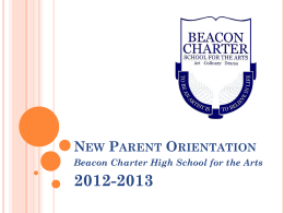 New Parent Orientation - Beacon Charter High School for The Arts