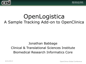 OpenLogistica: A Sample Tracking Add