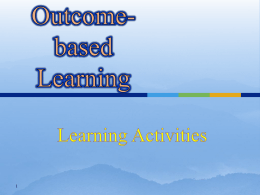 this Outcome-based Learning Activities as PowerPoint