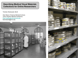 Describing Medical Visual Materials Collections for Online