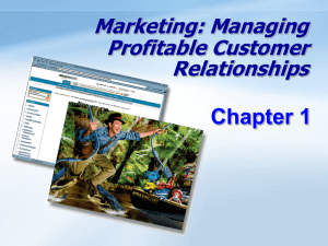Marketing: Managing Profitable Customer