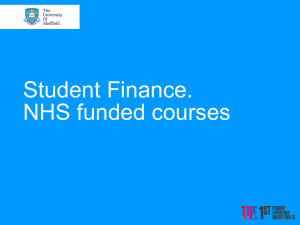 NHS Funded Years - University of Sheffield
