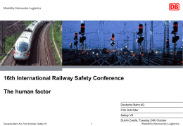 Presentation - International Rail Safety Conference (IRSC)