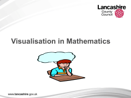 Visualisation in Mathematics Aims