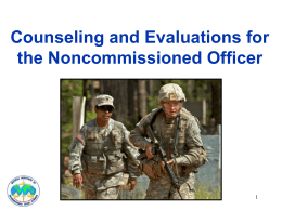 COUNSELING AND EVALUATIONS FOR THE NCO