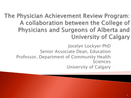 Physician Achievement Review Program