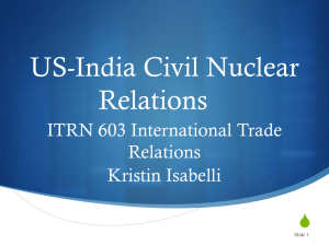 PowerPoint. - International Trade Relations