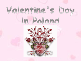 Valentine`s Day in Poland