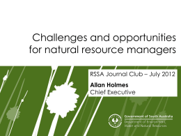 Challenges and opportunities for Natural Resource Managers (ppt