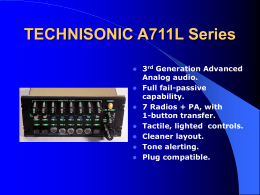 TECHNISONIC A711L Series