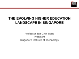 Professor Tan Chin Tiong, Singapore Institute of Technology