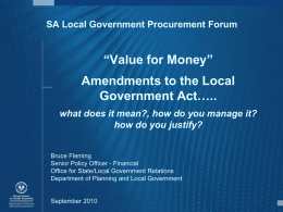 How do you justify value for money in procurement?