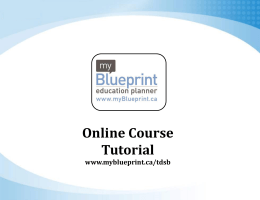 myBlueprinttutorial - Northern Secondary School