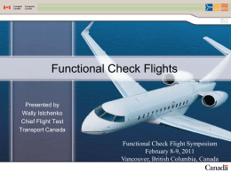 Functional Check Flights - Flight Safety Foundation