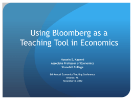 Use of Technology in Teaching Economics and Finance