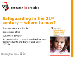 Safeguarding in the 21st century – where to now?