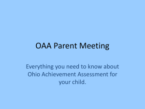 OAA Parent Meeting