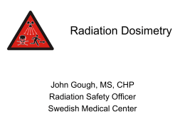 Radiographers – Radiation Dosimetry