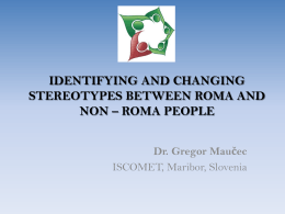 Identifying and changing stereotypes between Roma and non
