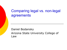 Comparing Legal vs. Non